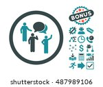 forum persons icon with bonus... | Shutterstock .eps vector #487989106