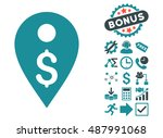 dollar map marker icon with... | Shutterstock .eps vector #487991068