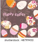easter egg pink background | Shutterstock .eps vector #48799453