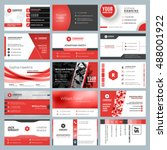 business card templates.... | Shutterstock .eps vector #488001922