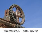 Small photo of Detail of an ancient airlock equipment on the Ammer in Graswang Valley