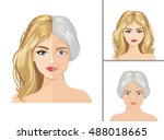 vector aging process. young... | Shutterstock .eps vector #488018665
