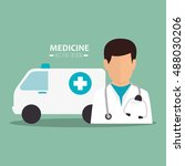 avatar medical doctor | Shutterstock .eps vector #488030206
