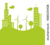 green eco city | Shutterstock .eps vector #488035408