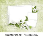 delicate green frame for three... | Shutterstock . vector #48803806