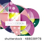 geometric abstract composition  ...   Shutterstock .eps vector #488038978