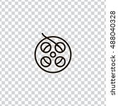 film reel icon vector  clip art....