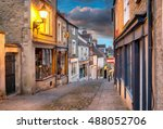 olde worlde cobbled streets and ... | Shutterstock . vector #488052706