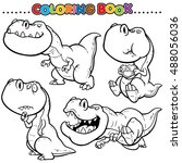 cartoon coloring book  ... | Shutterstock .eps vector #488056036