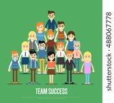 teamwork people together vector | Shutterstock .eps vector #488067778