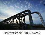 the pipe and valve oil fields | Shutterstock . vector #488076262