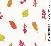 seamless pattern with birch...