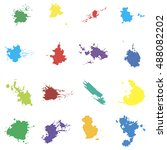 colored vector blots. seth... | Shutterstock .eps vector #488082202