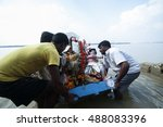kolkata   oct 17  devotees... | Shutterstock . vector #488083396