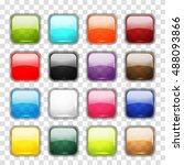 set of glossy button icons for... | Shutterstock .eps vector #488093866