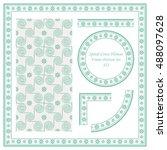 vintage border pattern 422... | Shutterstock .eps vector #488097628