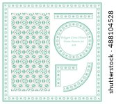 vintage border pattern 449... | Shutterstock .eps vector #488104528
