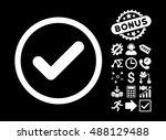 yes icon with bonus pictogram....