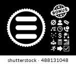 stack icon with bonus icon set. ...