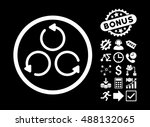 rotation pictograph with bonus... | Shutterstock .eps vector #488132065