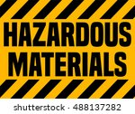 hazardous materials industrial... | Shutterstock .eps vector #488137282