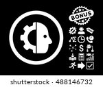 cyborg pictograph with bonus... | Shutterstock .eps vector #488146732