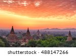 beautiful sunrise over old... | Shutterstock . vector #488147266