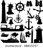 nautical elements great set | Shutterstock .eps vector #48815257