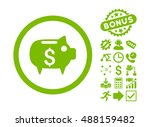 piggy bank pictograph with... | Shutterstock .eps vector #488159482