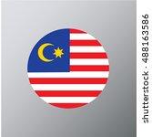 malaysia flag  vector | Shutterstock .eps vector #488163586