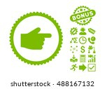 index finger pictograph with...