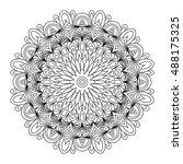decorative mandala. vector... | Shutterstock .eps vector #488175325