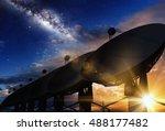 Radio Telescopes  Sunset And...