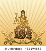 femida   lady justice   graphic ... | Shutterstock .eps vector #488194558