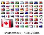 flag icons vector design... | Shutterstock .eps vector #488196886