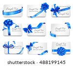 set of beautiful cards with... | Shutterstock .eps vector #488199145