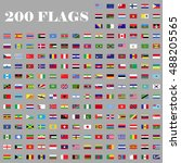 200 flags set. universal flags... | Shutterstock .eps vector #488205565