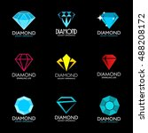 set of diamond abstract logo... | Shutterstock .eps vector #488208172