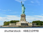 the statue of liberty from... | Shutterstock . vector #488210998