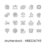 simple set of artificial... | Shutterstock .eps vector #488226745