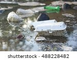 water pollution   plastic and... | Shutterstock . vector #488228482
