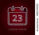 23th calendar red crystal ruby...