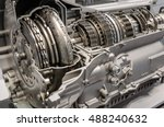 car transmission cutaway side... | Shutterstock . vector #488240632