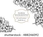 vintage delicate invitation... | Shutterstock .eps vector #488246092
