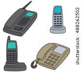 vector set of telephone   Shutterstock .eps vector #488262502
