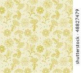 floral seamless pattern | Shutterstock .eps vector #48827479