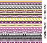 tribal seamless pattern.... | Shutterstock .eps vector #488281522