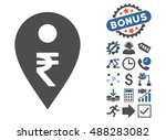rupee map marker icon with... | Shutterstock .eps vector #488283082