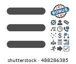 menu items icon with bonus... | Shutterstock .eps vector #488286385