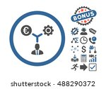 euro financial development icon ... | Shutterstock .eps vector #488290372